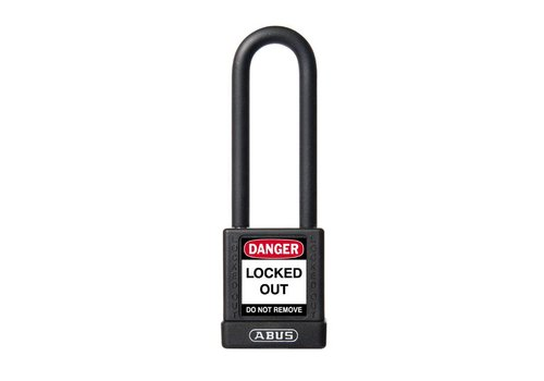 Aluminum safety padlock with black cover 74/40HB75 SCHWARZ