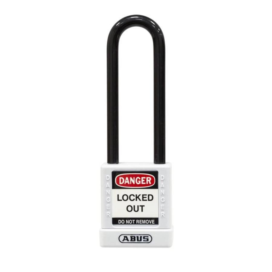 Aluminum safety padlock with white cover 74/40HB75 WEIß