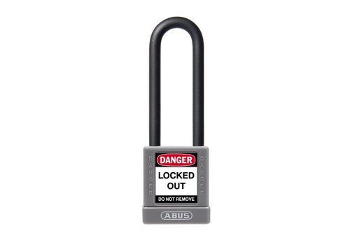 Aluminum safety padlock with grey cover 74/40HB75 GRAU