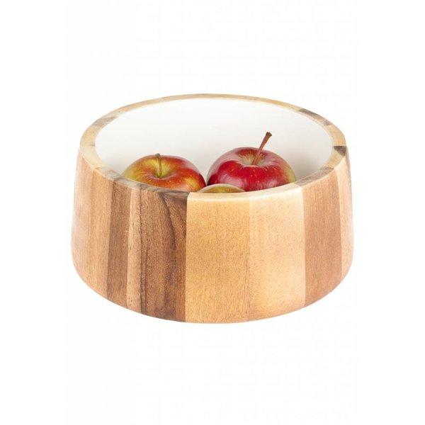 Bloomingville Holzschüssel innen weiß
