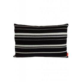 OyOy Streifenkissen schwarz aus Wolle