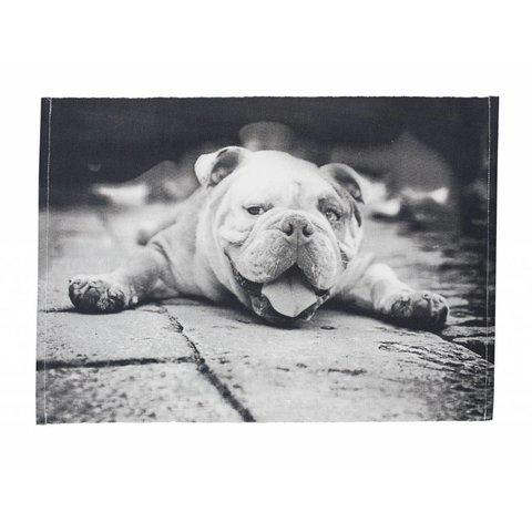 Tischset Hund schwarz/weiß aus Baumwolle