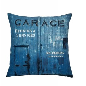 Cozy living Kissen Garage blau