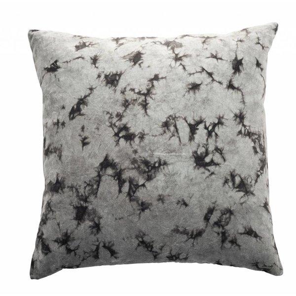 Cozy living Samtkissen mit Marmor-Muster grau