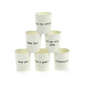 SERAX Teelichthalter weiß/schwarz aus Glas
