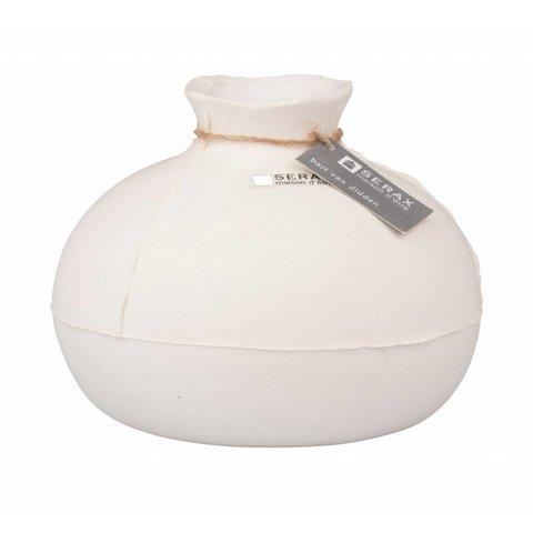 "Vase ""Calebas"" naturweiß aus Keramik"