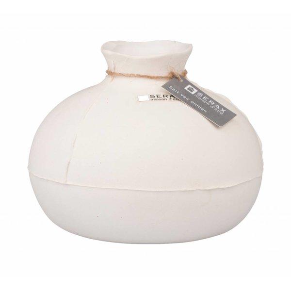 "SERAX Vase ""Calebas"" naturweiß aus Keramik"