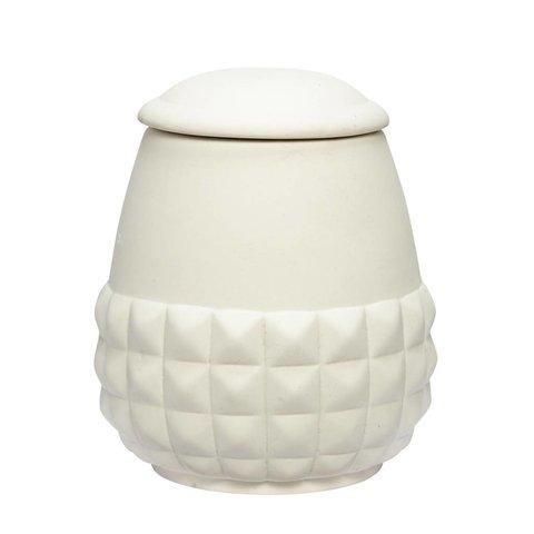 Dose weiß aus Keramik