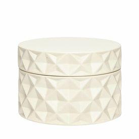 Hübsch Interior Dose naturweiß aus Keramik