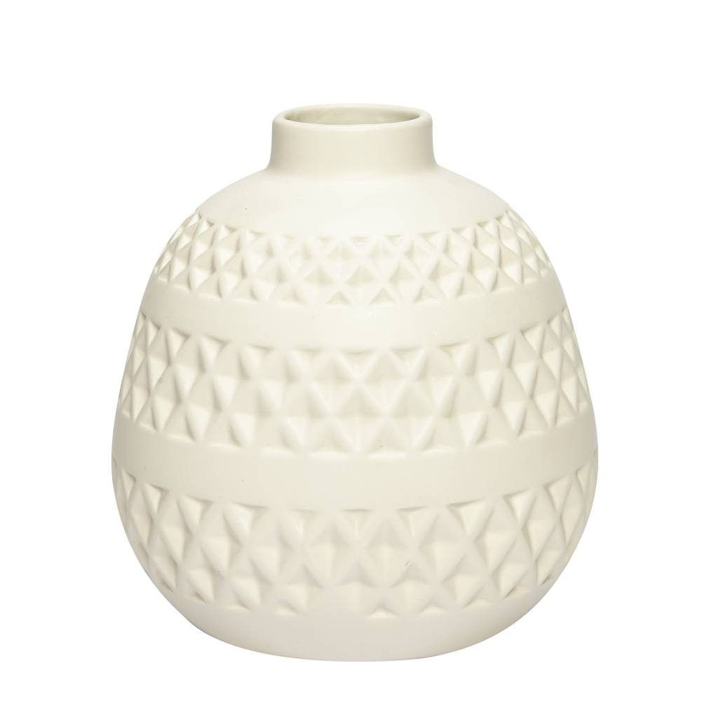 h bsch interior vase wei aus keramik wohnbeiwerk. Black Bedroom Furniture Sets. Home Design Ideas