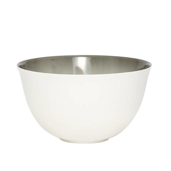 Hübsch Interior Schale weiß/grau aus Porzellan