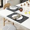 Tischset Linien 2er Set schwarz/weiß aus Silikon