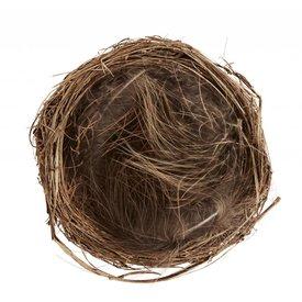 Madam Stoltz Nest braun aus Stroh und Federn