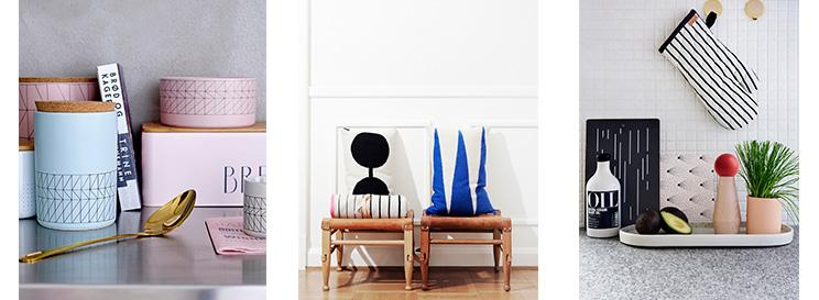 wohnaccessoires mit grafischen mustern entdecken wohnbeiwerk. Black Bedroom Furniture Sets. Home Design Ideas