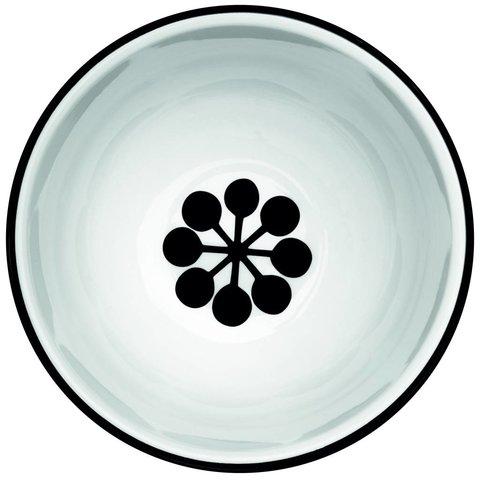Schale weiß / schwarz aus Porzellan M5