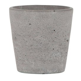 IB LAURSEN Übertopf grau aus Beton