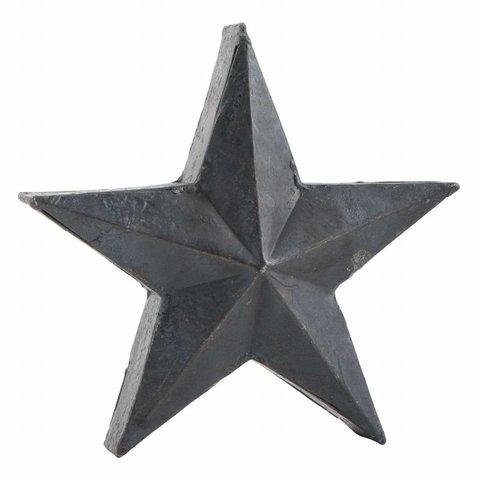 Stern schwarz im Antik-Look aus Metall
