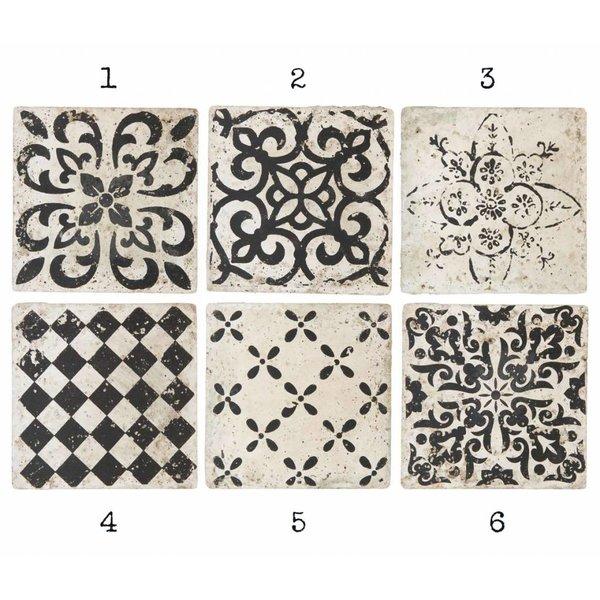 IB LAURSEN Dekofliesen Marrakech schwarz aus Keramik