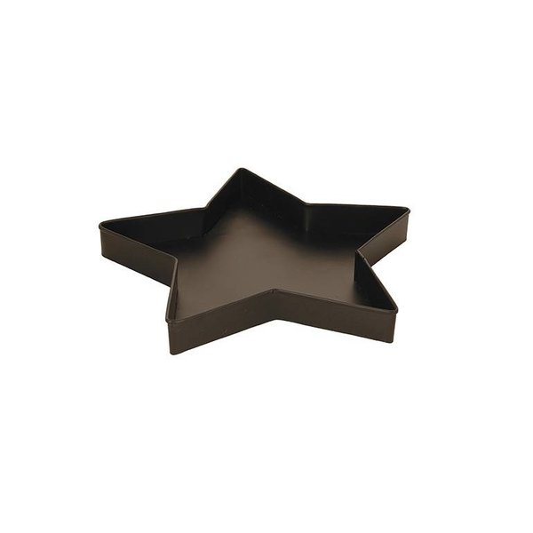 Blossom Tablett Stern schwarz aus Metall