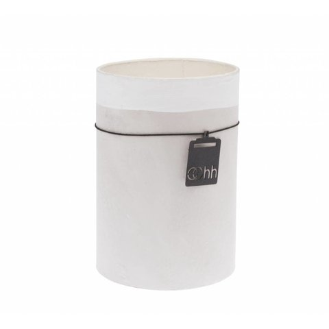 "Vase ""Berlin"" grau/weiß aus recyceltem Papier"