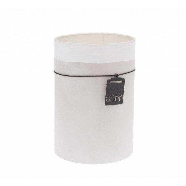 "OOhh Vase ""Berlin"" grau/weiß aus recyceltem Papier"