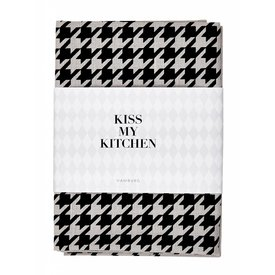 KISS MY KITCHEN Geschirrtuch Hahn grau/schwarz