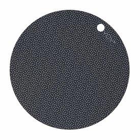 OyOy Tischset 2er Set rund schwarz aus Silikon