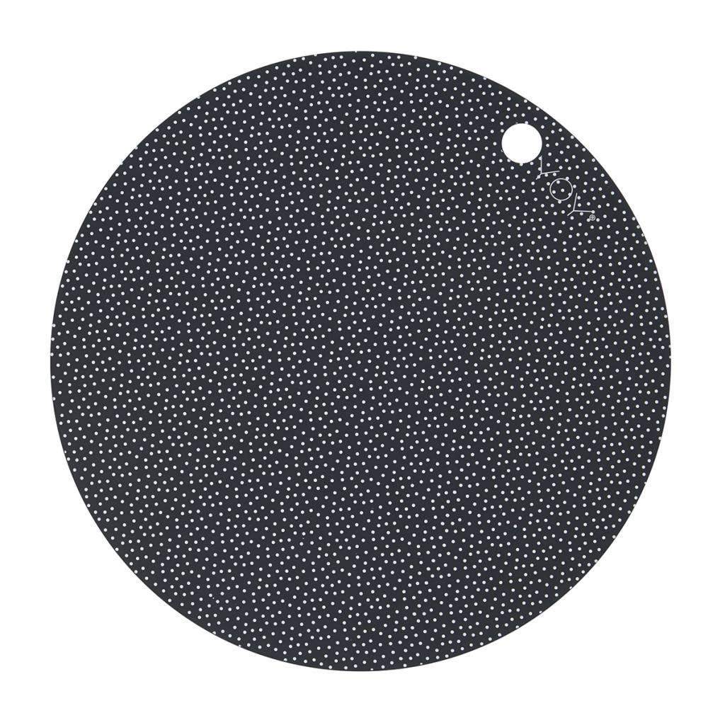 Oyoy Tischset rund schwarz aus Silikon  wohnbeiwerk