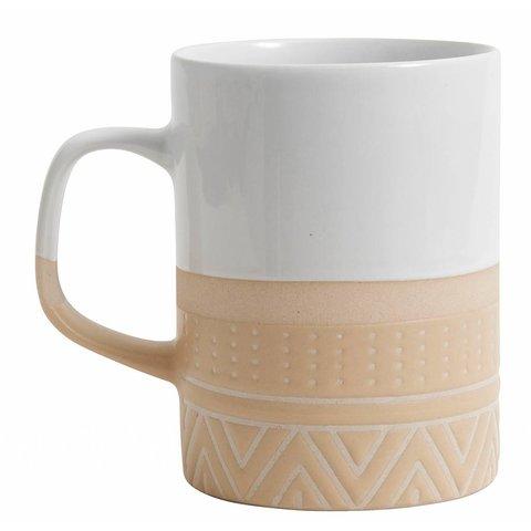 Becher weiß/sand aus Keramik