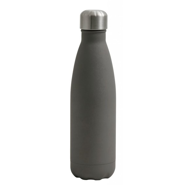 Nordal Thermosflasche grau aus Metall und Gummi