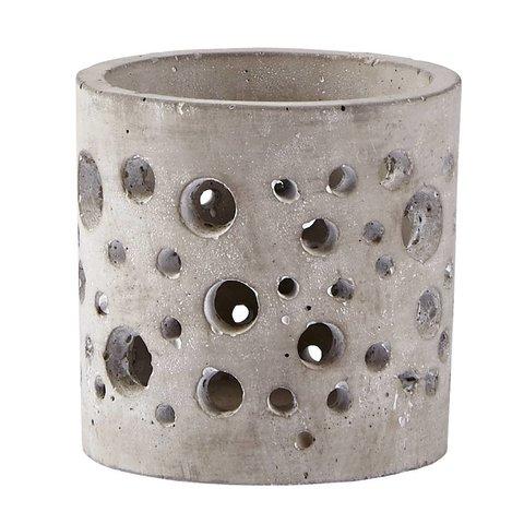 Teelichthalter  grau aus Zement