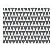 Tischset   2er Set grau/weiß aus Gummi