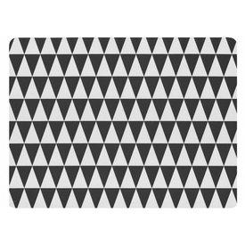 KJ Collection Tischset   2er Set schwarz/weiß aus Gummi