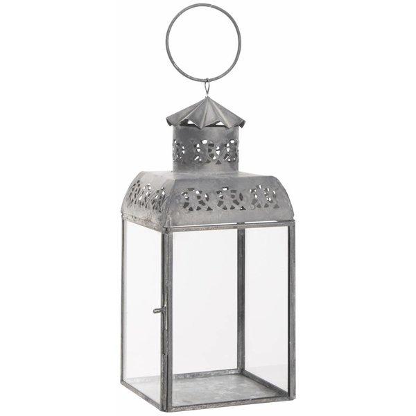 IB LAURSEN Laterne  mit Lochmuster aus Zink und Glas