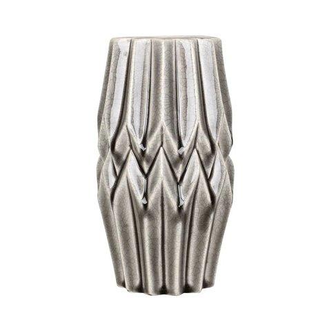 Vase grau aus Keramik