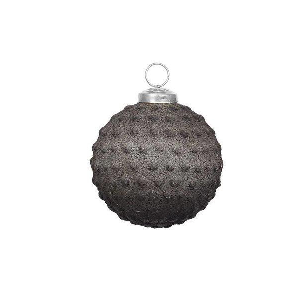 strömshaga Anhänger Kugel dunkelgrau aus gefrostetem Glas