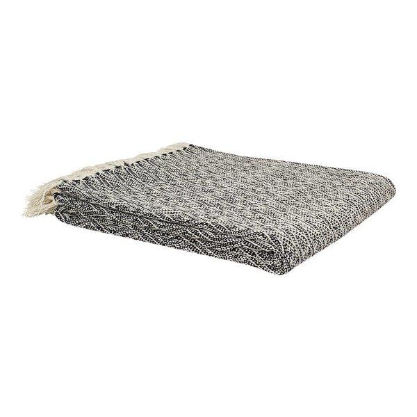strömshaga Baumwollplaid creme mit schwarzem Muster