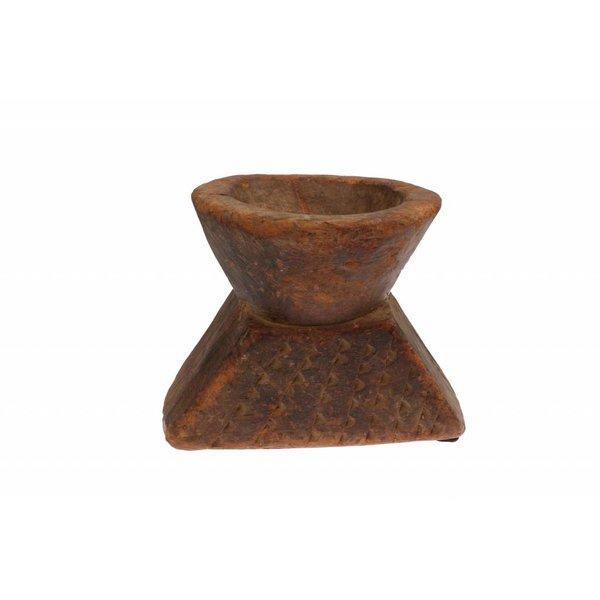 IB LAURSEN Kerzenständer antik eckig aus Holz