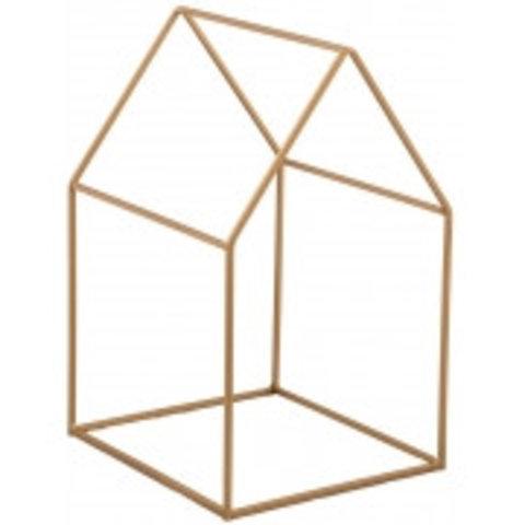 Deko-Haus gold aus Metall