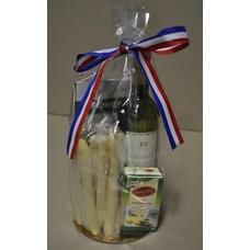 Kado-pakket alleen in het asperge-seizoen