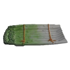 Schaal asperge groen 25 cm