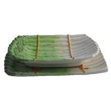 Schaal + onderschaal asperge groen 32cm