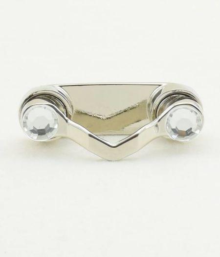 Bestel 1 BrilClip® - NIEUW - zilverkleurig met strass-steentjes € 13,95 ipv € 14,95