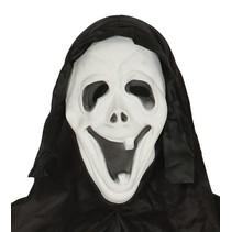Scream Masker met lach en capuchon volledig