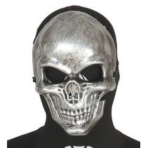 Halloween Masker Skelet Zilver voorkant