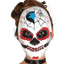 Mexicaans Masker Dia de los Muertos Wit voorkant