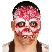 Halloween Masker Skelet Bloed half
