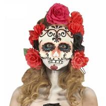 Mexicaans Masker Dia de los Muertos half