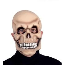Halloween Masker Skelet met bewegende kaak Deluxe driekwart