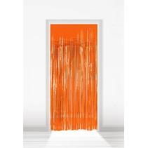 Oranje Deurgordijn Folie 2 meter